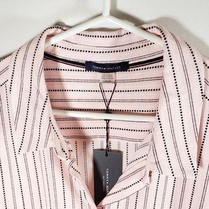Tommy Hilfiger Pink Sleeveless Button Up Top SizeL